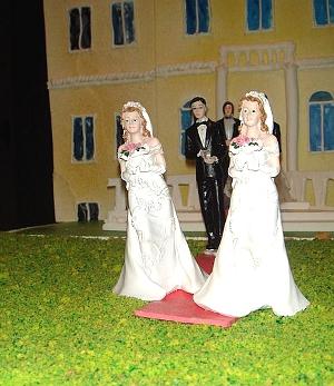Bolo para um casamento de pessoas do mesmo sexo. Foto Giovanni Dall'Orto via Wikimedia.
