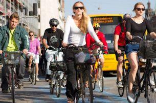 Ciclistas dominam paisagem no trânsito do centro de Copenhague.  Foto: Ursula Bach/ Københavns Kommune
